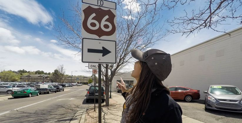 Route 66 in Flagstaff, Arizona