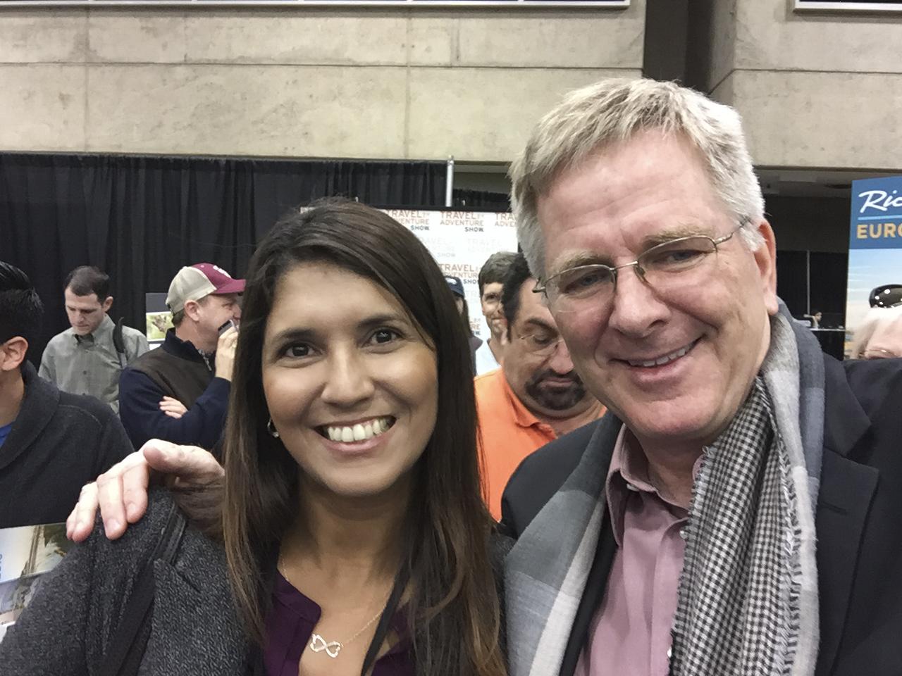 Renata and Rick Steves at the Dallas Travel Show