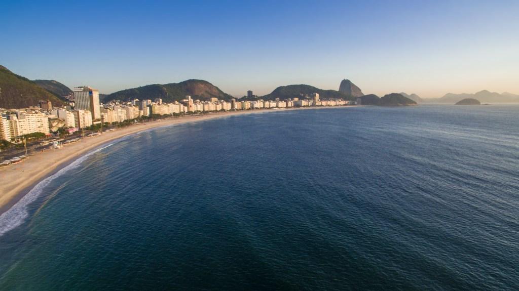 Copacabana in Rio de Janeiro, Brazil - Ready for the Olympics 2016