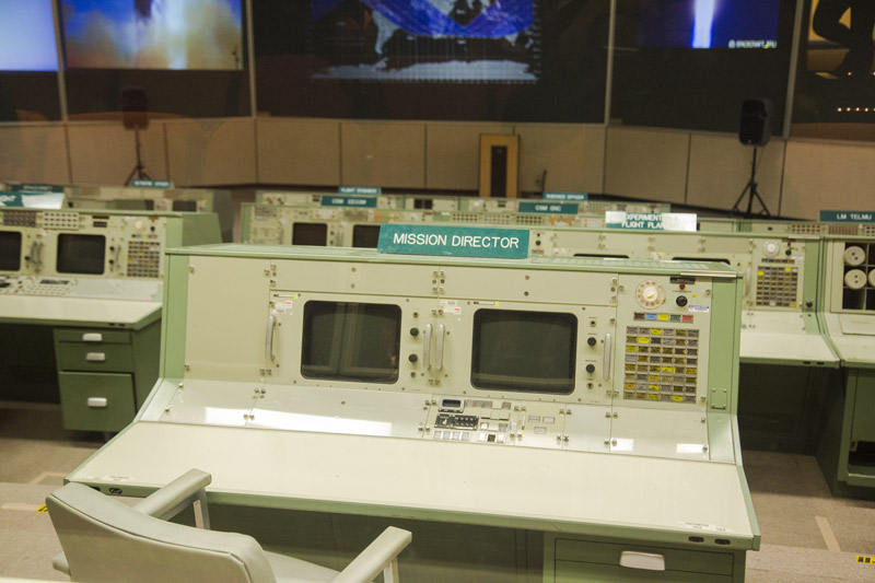 Historic Mission Control during the Apollo program at NASA