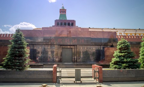 Visiting Lenin Mausoleum