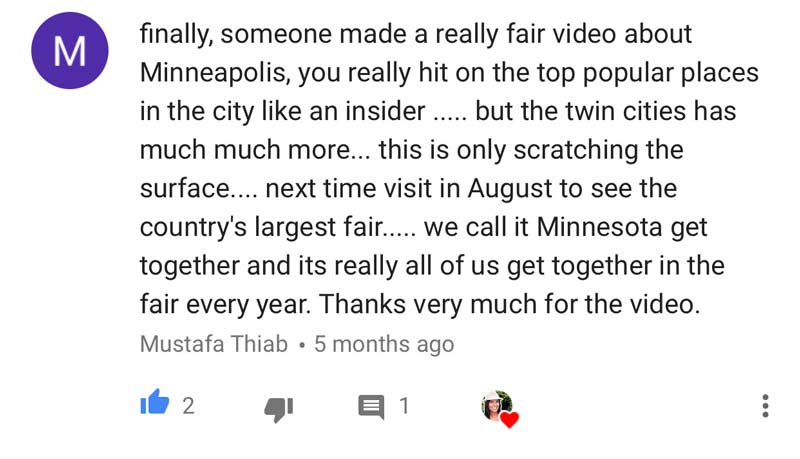 Comment on Renata Pereira's YouTube channel