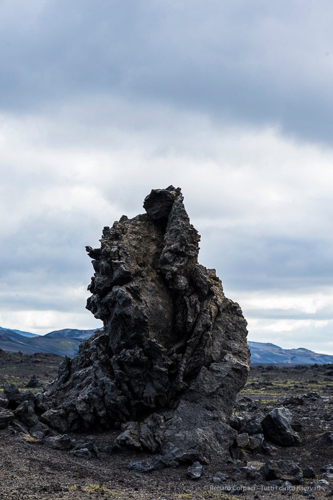 Lava sculpture on roadside. Nikon D810, 85 mm (85 mm ƒ/1.4) 1/250 sec ƒ/8 ISO 250