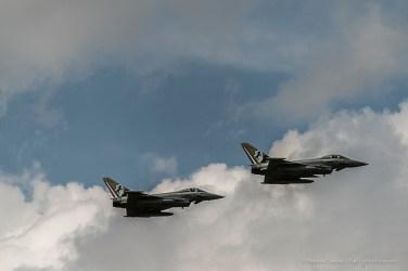 Two Eurofighter of the Italian Air Force. Nikon D810, 360 mm (80-400.0 mm ƒ/4.5-5.6) 1/2000 sec ƒ/6.3 ISO 400