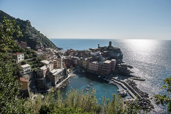 """Vernazza's name is derived from the Latin adjective verna meaning """"native"""" and the aptly named indigenous wine, vernaccia (""""local"""" or """"ours""""), helped give birth to the village's moniker. Nikon D810, 24mm (24 mm ƒ/1.4) 1/500 sec ƒ/5.6 ISO 64"""