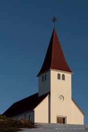 "The church overlooking Vik. Nikon D810, 85 mm (85.0 ƒ/1.4) 1/320"" ƒ/8 ISO 64"
