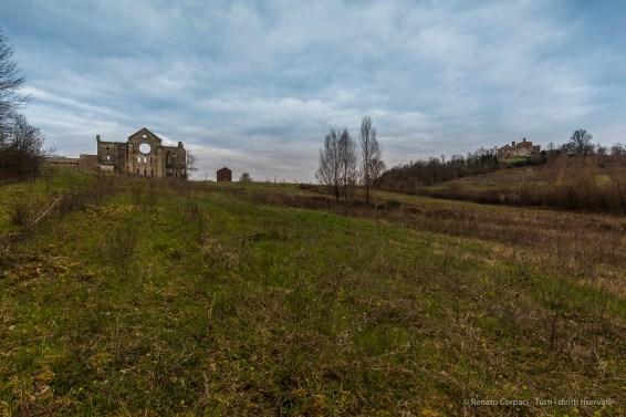"San Galgano Abbey with the Montesiepi Hermitage on the right side. Nikon D810, 20 mm (20.0 mm ƒ/1.8) 1/13"" ƒ/11 ISO 64"