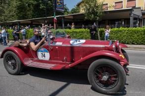 """Andrea Vesco e Andrea Guerini, primi classificati su Alfa Romeo 6C 1750 GS Zagato del 1931. Nikon D810, 24 mm (24.0mm ƒ/1.4) ) 1/680"""" ƒ/4 ISO 64"""