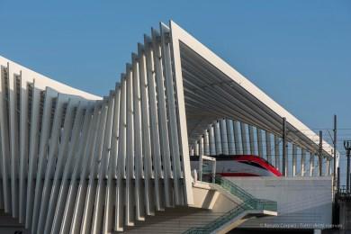 """Santiago Calatrava. Reggio Emilia, Stazione AV Mediopadana. Nikon D750, 105 mm (105.0 mm ƒ/2.8) 1/500"""" ƒ/8,0 ISO 100"""