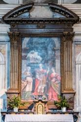 """L'altare di destra, barocco con il dipinto del '700. Nikon D810, 85 mm (85 mm ƒ/1.4) 6,0"""" ƒ/9 ISO 64"""
