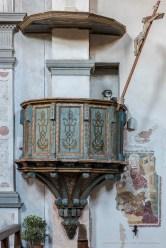 """Il pulpito ligneo risale all'età barocca. Nikon D810, 85 mm (85 mm ƒ/1.4) 6,0"""" ƒ/9 ISO 64"""