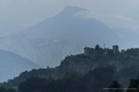 """Vista del castello di Vercurago dalla Chiesa di S. Brigida d'Irlanda, a Lorentino (Secolo XV) Nikon D810, 600 mm (Sigma 150-600 mm ƒ/4.5-6.3) 1/160"""" ƒ/6.3 ISO 64"""