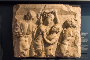 "Fragment of a sarcophagus with satyrs and maenads. Nikon D810, 24 mm (24-120.0 mm ƒ/4) 1/200"" ƒ/4.5 ISO 6400"
