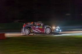 "Lorenzo Della Casa and Domenico Pozzi on Ford Fiesta WRC 1.6. Monster Energy Monza Rally Show 2016. Nikon D810, 50 mm (50.0 mm ƒ/1.8) 1/40"" ƒ/4 ISO 6400"