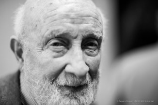 Vittorio Gregotti, architect, January 2017. Nikon D810, 85 mm (85.o mm ƒ/1.4) 1/100 ƒ/1.4 ISO 1250