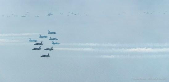 """Frecce Tricolori"" acrobatic squadron on the Manerba, Garda, lakeshore. August 2016. Nikon D750, 400 mm (80-400.0 mm ƒ/4.5-5.6) 1/1600 ƒ/16 ISO 1000"