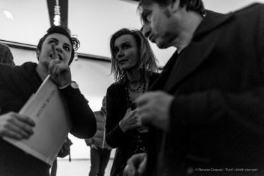 """Maria Cristina de Zuccato, founder Noema Gallery. MAC Andrea Jako Giacomini, """"The Art of Shades"""". Milano, February 2018. Nikon D810 24 mm (24 mm ƒ/1.4) 1/80"""" ƒ/1.4 ISO 1600"""