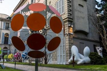 "Luca Trazzi, Dandalion; Jean Hans Harp, Femme Paysage 1966. Palazzo Anguissola Traversi. Milano Design Week, April 2018. Nikon D810, 35 mm (24-120 mm ƒ/4) 1/13"" ƒ/8 ISO 64"