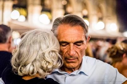 An evening of Tango in the Milano, Galleria Vittorio Emanuele II, June 2018. Nikon D810, 120 mm (24-120 mm ƒ/4) 1/125 mm ƒ/4 ISO 12800