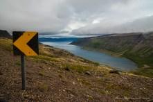 View from above Sudureyri Fjord. Nikon D810, 24 mm (24-120.0 mm ƒ/4) 1/250 sec ƒ/11 ISO 800