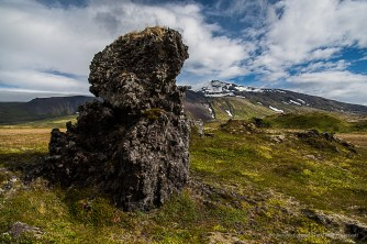 """In the background, Snæfellsjökull Glacier, entrance to the Earth's center in the book """"Journey to the Center of the Earth"""" by Jules Verne. Nikon D810, 24 mm (24-120.0 mm ƒ/4) 1/1250 sec ƒ/4 ISO 64"""