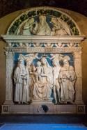 """Andrea della Robbia (1435-1525), terracotta smaltata: """"La Vergine col Bambino e Santi Romualdo, Maddalena, G. Battista e Antonio. Eremo di Camaldoli, Foreste Casentinesi. Nikon D810, 24 mm (24.0 mm ƒ/1.4) 1/125"""" ƒ/5.6 ISO 6400"""