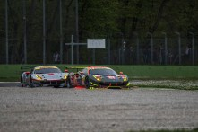 "Two private Ferrari 488 GTE chase each others at the Ascari Chicane. Nikon D750, 400 mm (80-400.0 mm ƒ/4.5-5.6) 1/1250"" ƒ/5.6 ISO 200"