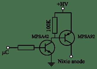 Nixie tubes clock