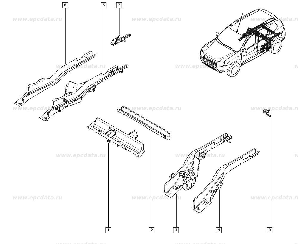 Рено Дастер (Renault Duster) 756307319R