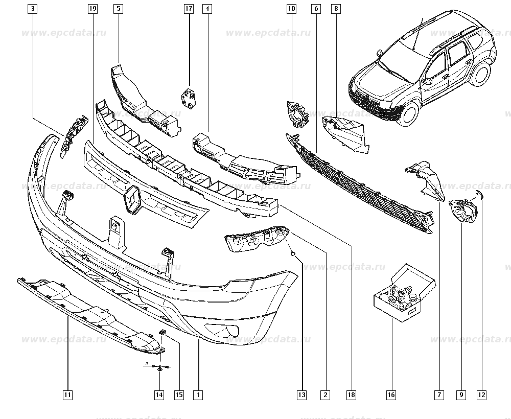 Рено Дастер (Renault Duster) 622227044R