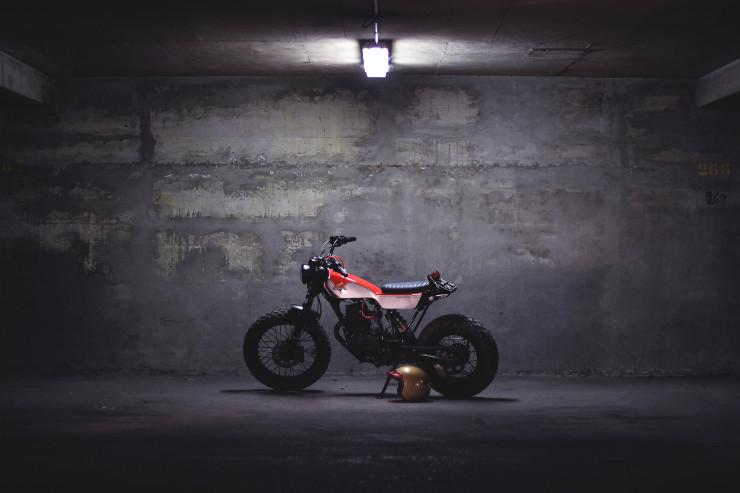 Dauphine Lamarck Honda TLV 125     CustomBike.cc
