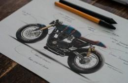 Triumph Thruxton R Sketch   CustomBIKE.cc