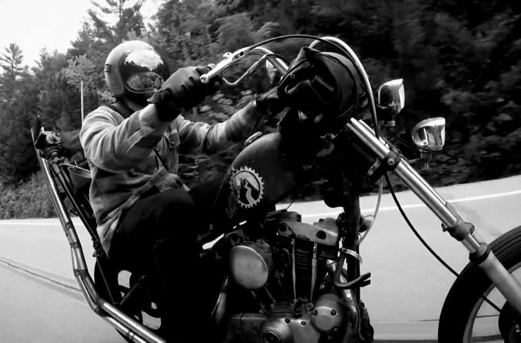 Custom Vintage Harley Davidson Peak Foilage Road Trip Film