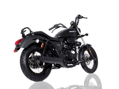 Retro 125cc - Sinnis Hoodlum Black Rear