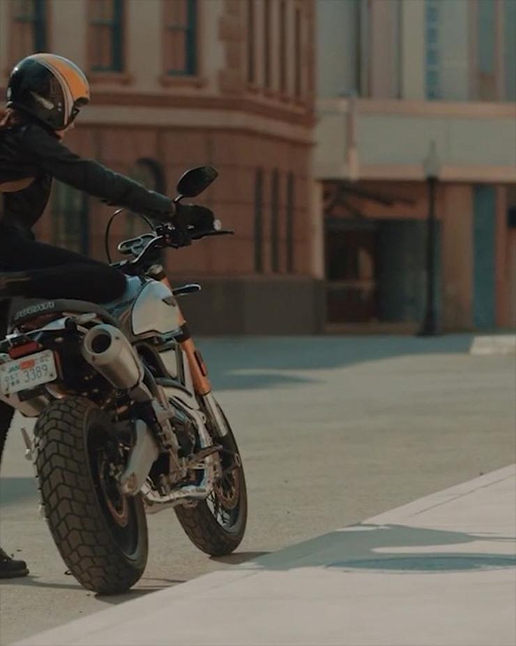 Imogen Lehtonen Ducati Scrambler 1100 Special
