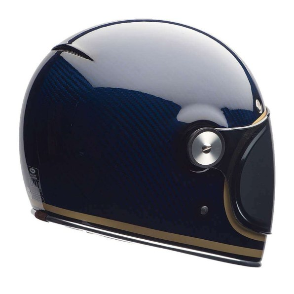 BELL BULLITT CARBON CANDY BLUE HELMET REAR RIGHT