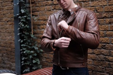 Goldtop Bobber Motorcycle Jacket Brown