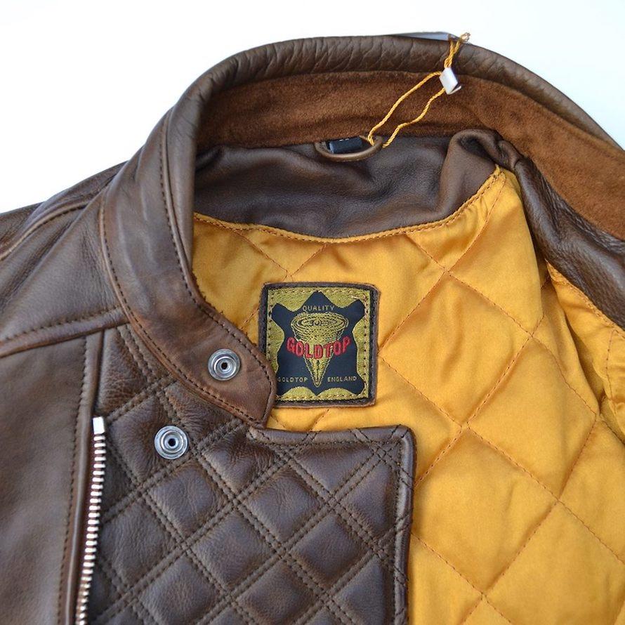 Goldtop Brown Bobber Jacket