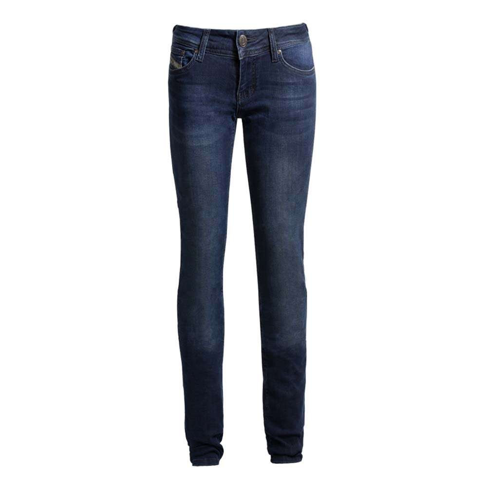 John Doe Betty High-Waist Dark Blue Motorcycle Jeans