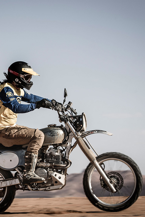 Fuel Motorcycles Scram Africa trip 2019  - featuring its custom Dakar-Inspired Royal Enfield Himalayan EFI - \'Royal Rally 400\'