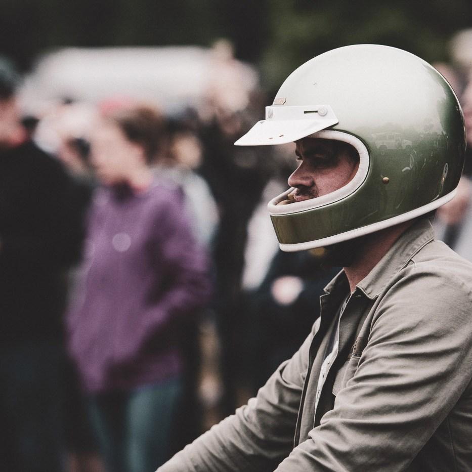 Rider with Hedon Helmet