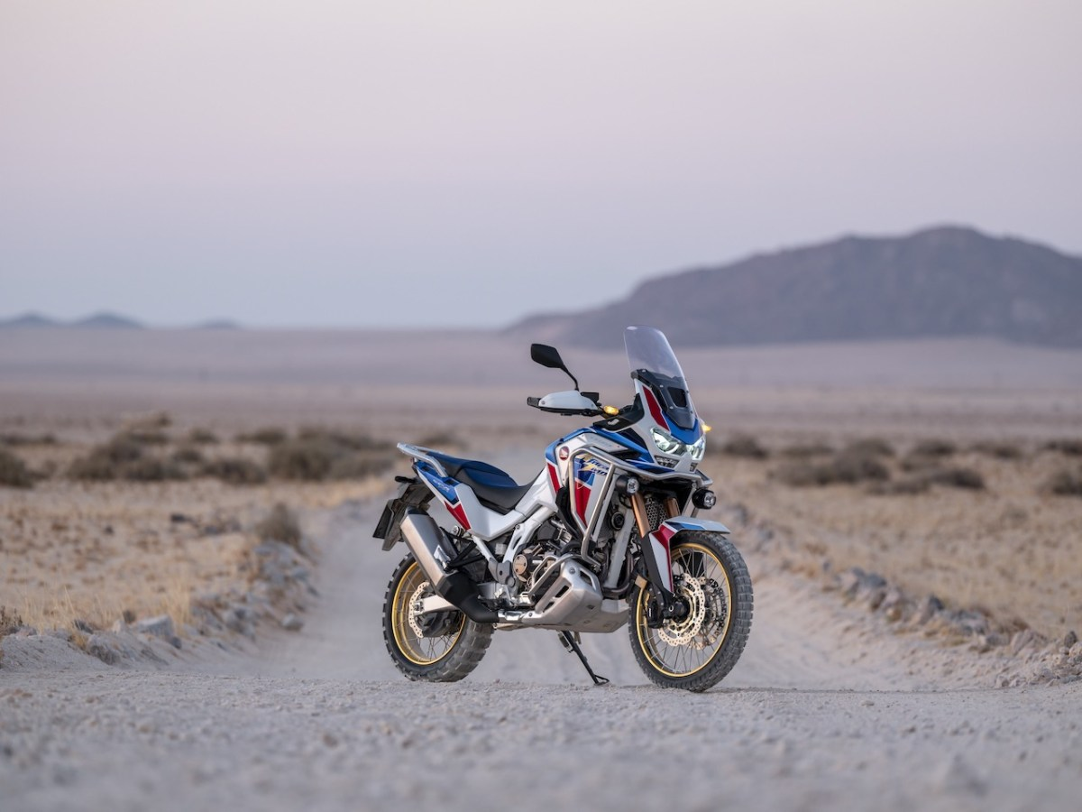 Honda Africa Twin Adventure Sports in the desert