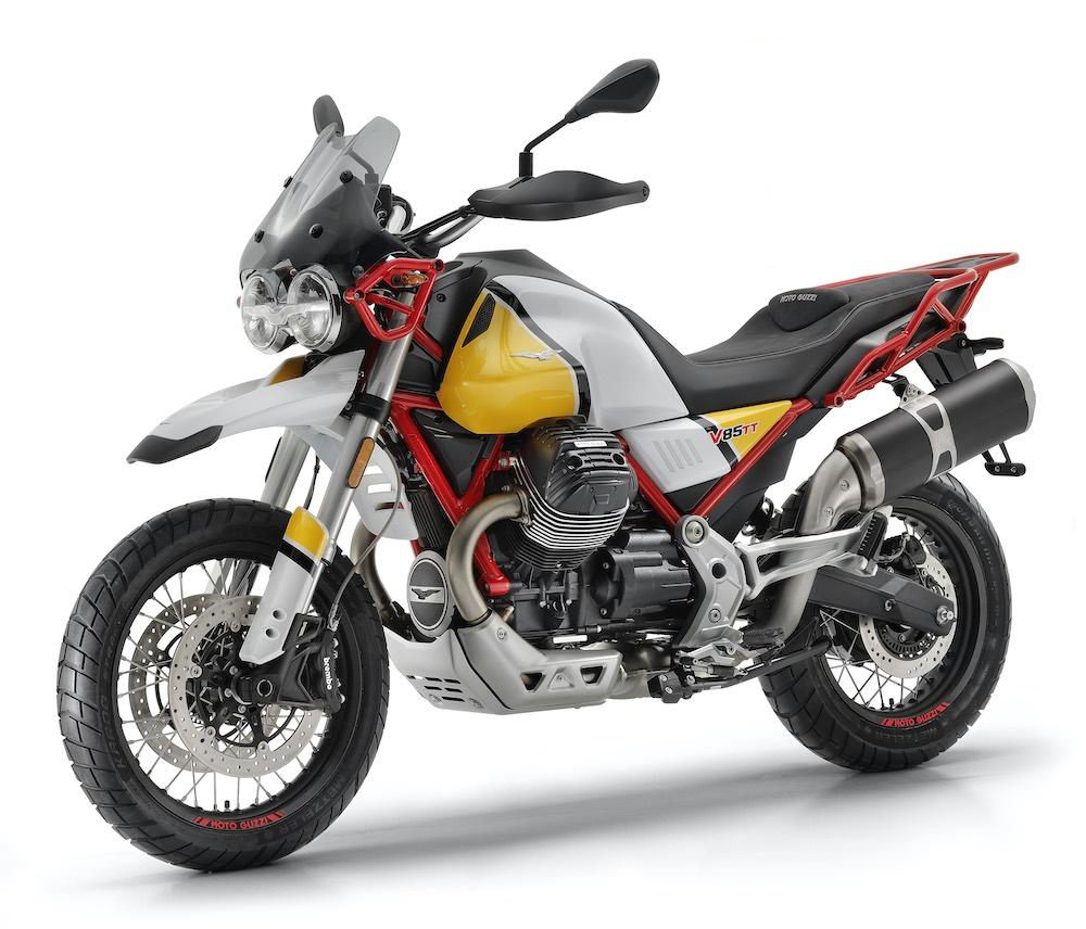 Moto Guzzi V85 TT front left view