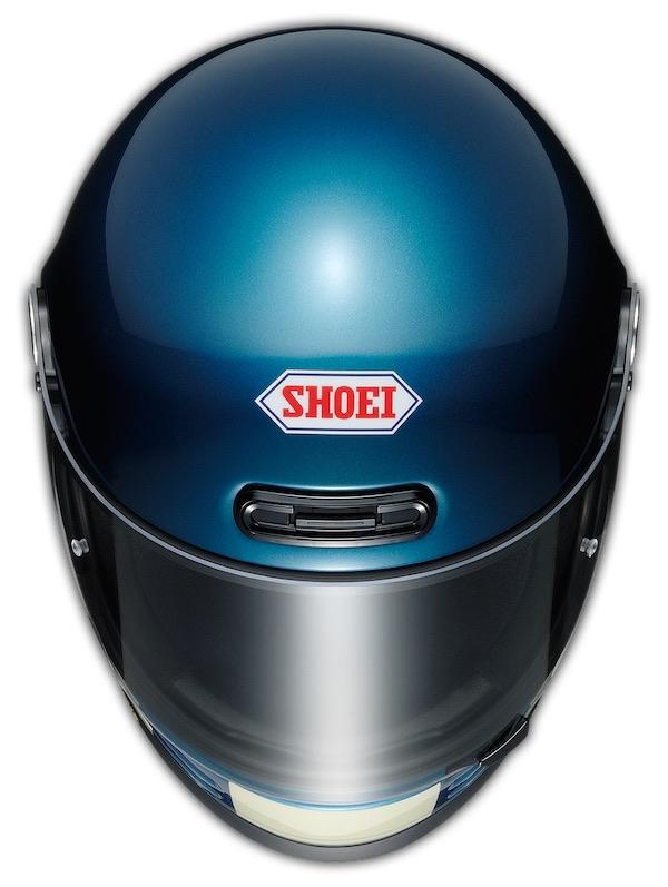 Shoei Glamster Retro Helmet [Blue] - top