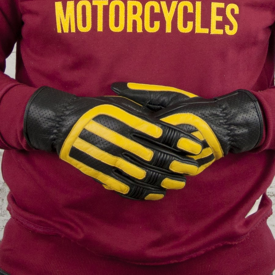 Age of Glory Victory Motorcycle Gloves Yellow-Black