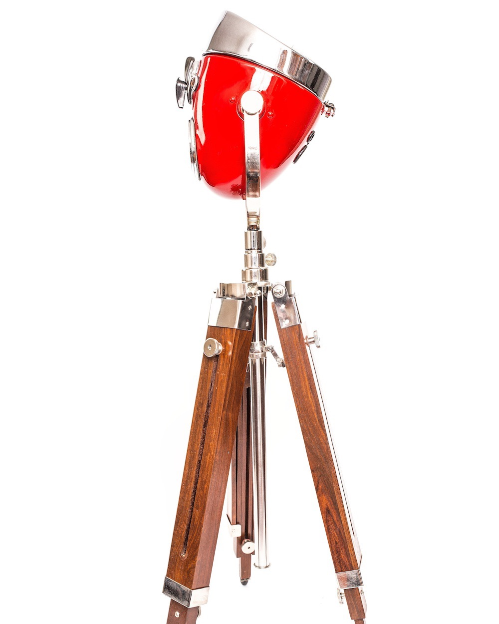 Modern Weld Vintage Floor Lamp Ural Headlight Red