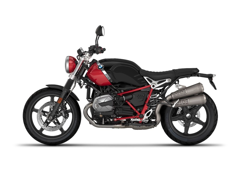BMW R nineT Scrambler Option 719 Black storm metallic:Racing red