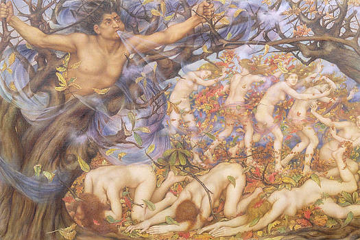 Evelyn De Morgan - Boreas y Fallen Leaves