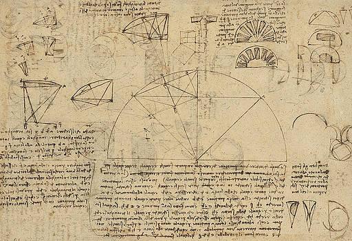 Leonardo Da Vinci - estudio geométrico de la transformación de rectilínea para superficies curvas y viceversa de Atlan