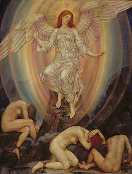 Evelyn De Morgan - The Light Shineth in Darkness and the Darkness Comprehendeth It Not